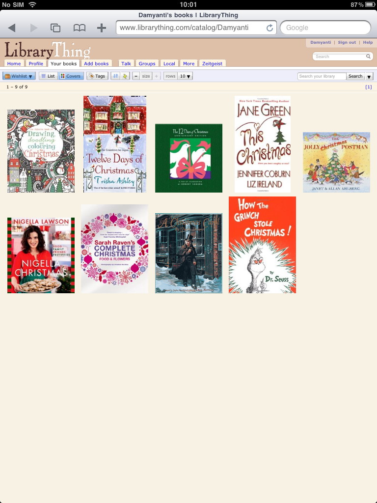 Festive wishlist on LibraryThing
